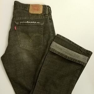Vtg Levis 515 Jeans Sz 8 MADE IN USA black